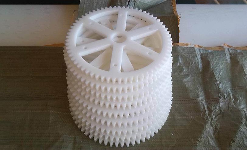 雕刻机PP料加工件